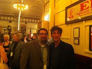 Mike and Neil Gaiman   by morrowplanet