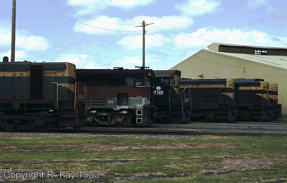 Locos stabled around the Ararat turntable-1 by Robert Kay