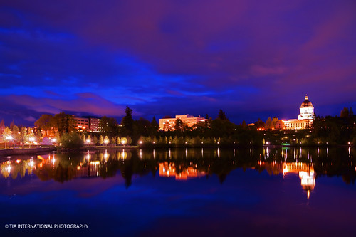 park county city pink blue sky lake reflection building heritage night tia campus evening washington cityscape purple state pacific northwest dusk district capital capitol hour dome sound olympia government law thurston administration grounds legal puget tosin legislative administrative arasi tiascapes ©tiainternationalphotography