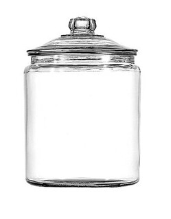 Jar with lid at Walmart. Under $10 | by Jodimichelle