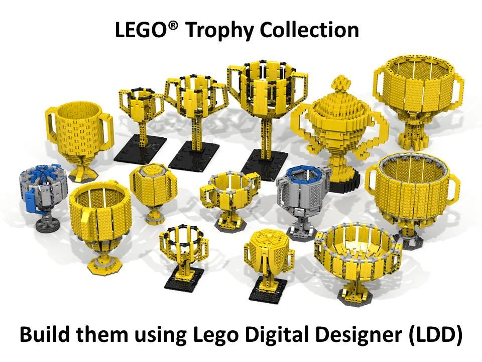 Lego Trophy Collection You Can See The Relative Sizes Of T Flickr