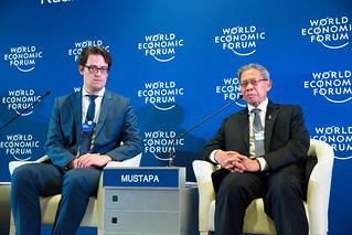 Closing press conferrence with Minister Mustapa Mohamed | by World Economic Forum