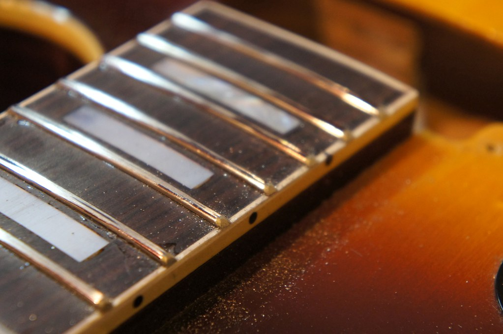 Here's the profiled fret ends after a rough rounding with