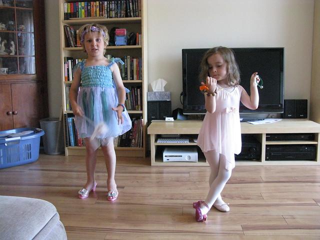 Milo and Zoe play dressup
