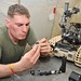 REME Mechanic Repairing a Dragon Runner EOD Remote Operated Device in Afghanistan