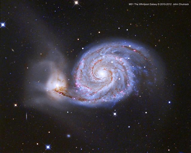 M51 The Whirlpool Galaxy - Colliding Galaxies