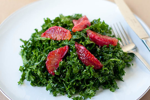 kale salad with blood oranges and anchovy vinaigrette | by liminaldreams