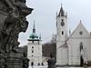 Teplice – morový sloup, kostel sv. Jana Křtitele a kostel Povýšení sv. kříže, foto: Petr Nejedlý