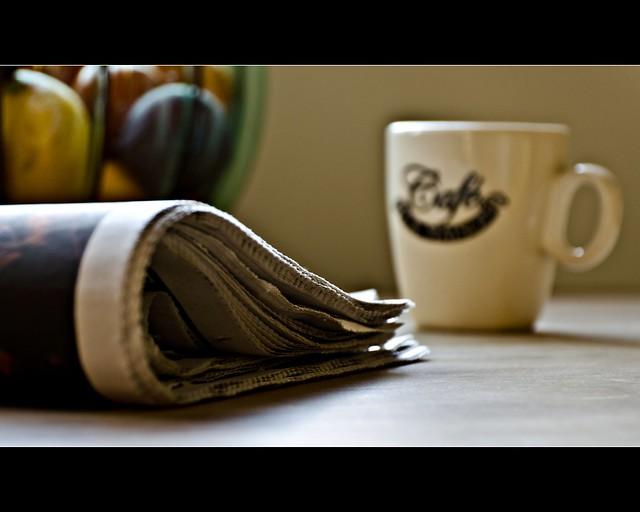 Sunday Morning kitchen table