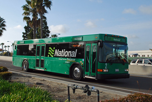 National Rent A Car Gillig Advantage Bus At San Diego