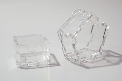 No glue, no screw acrlyic boxes