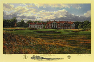 The 18th Hole, Royal Lytham & St. Annes Golf Club, Lancashire, England by Linda Hartough at Smith Galleries | by Smith Galleries