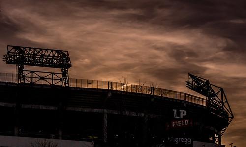 sunset sky usa night us pentax stadium nfl tennesseetitans 2012 footbal lr4 lpfield thecolliseum tntitans ringexcellence blinkagain tomfrundle tomfrundlephotography