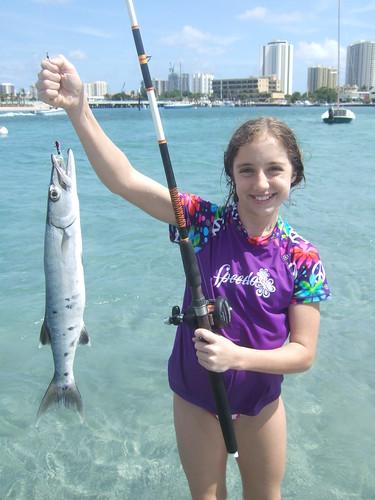 rachael with a barracuda