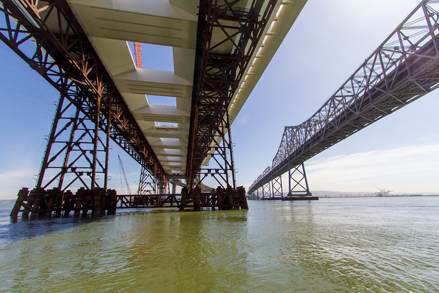 Bay Bridge East span 2012: falsework