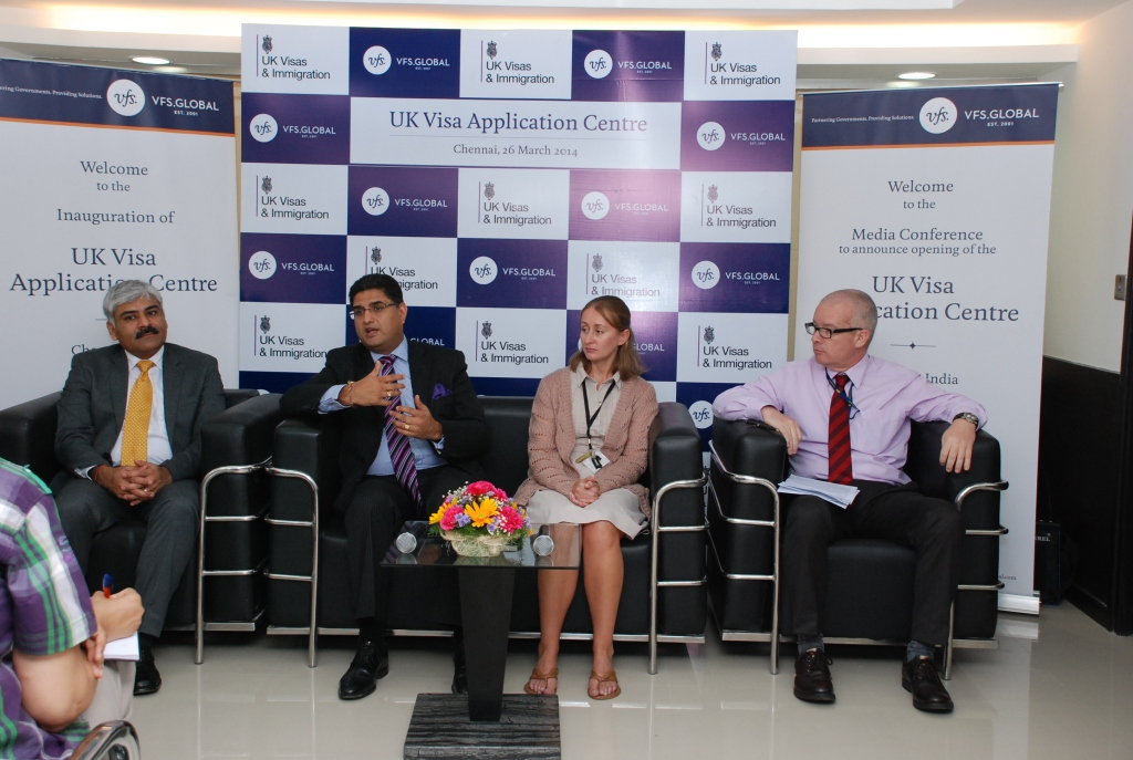 Inauguration of new VFS-Visa Application Centre in Chennai