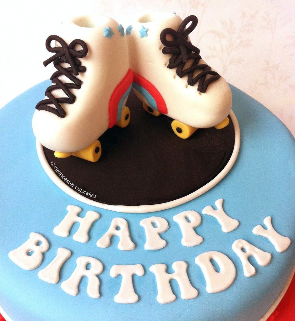 Swell Birthday Cake Roller Disco Harking Back To Our Youth Wh Flickr Funny Birthday Cards Online Inifofree Goldxyz