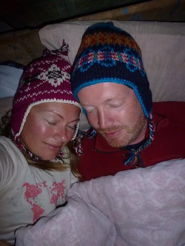 Poon Hill Trekking - dag 1 - guest house - slapen met muts