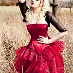 Stacey Smith Red bow dress