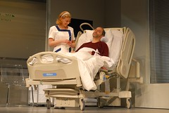 2009. december 14. 21:06 - Oroszlán Szonja és Rudolf Péter Brian Clark: Mégis, kinek az élete? c. darabjában. A Centrál Színházban.