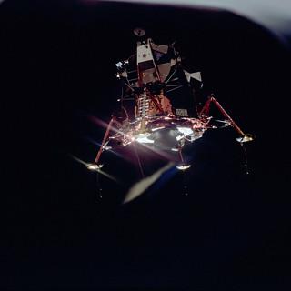 Apollo 11 Mission image - View of Lunar Module separation ...
