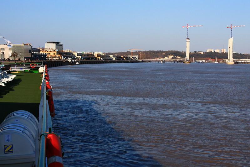 Vue sur Bordeaux depuis l'escalier bâbord - Visite du ms Princesse d'Aquitaine, 09 mars 2012, Bordeaux