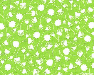 Peacock Lane - Falling Flowers - Apple Green