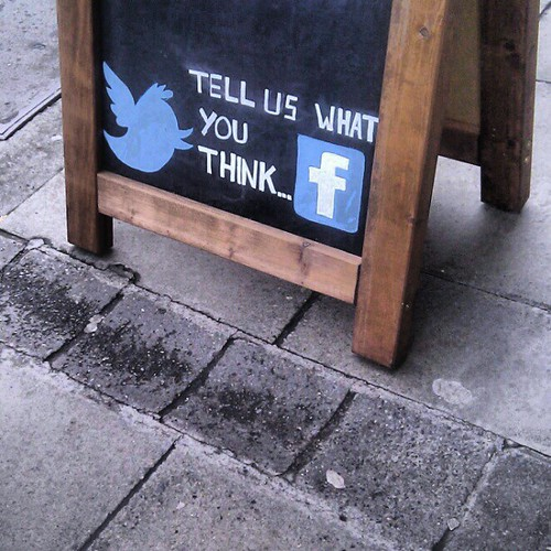 social media chalk, Dublin | by milov