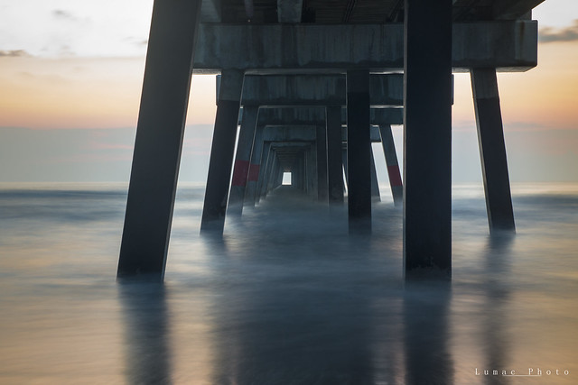 sunrise under the pier [explored]