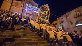 Processione Madonna dei Miracoli - Collesano, rientro.