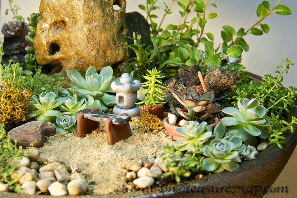 Merveilleux Miniature Zen Garden Close Up | Miniature Japanese Tea Garde ...
