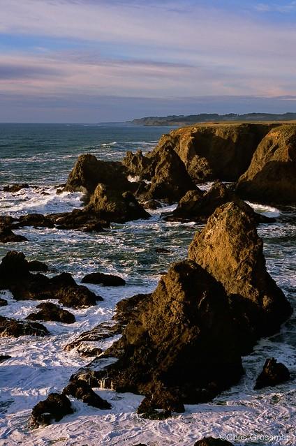 Seascape at Sunset - Nikon N55 - 75-300mm f/4.5-5.6 AF Nikkor - Provia 100F