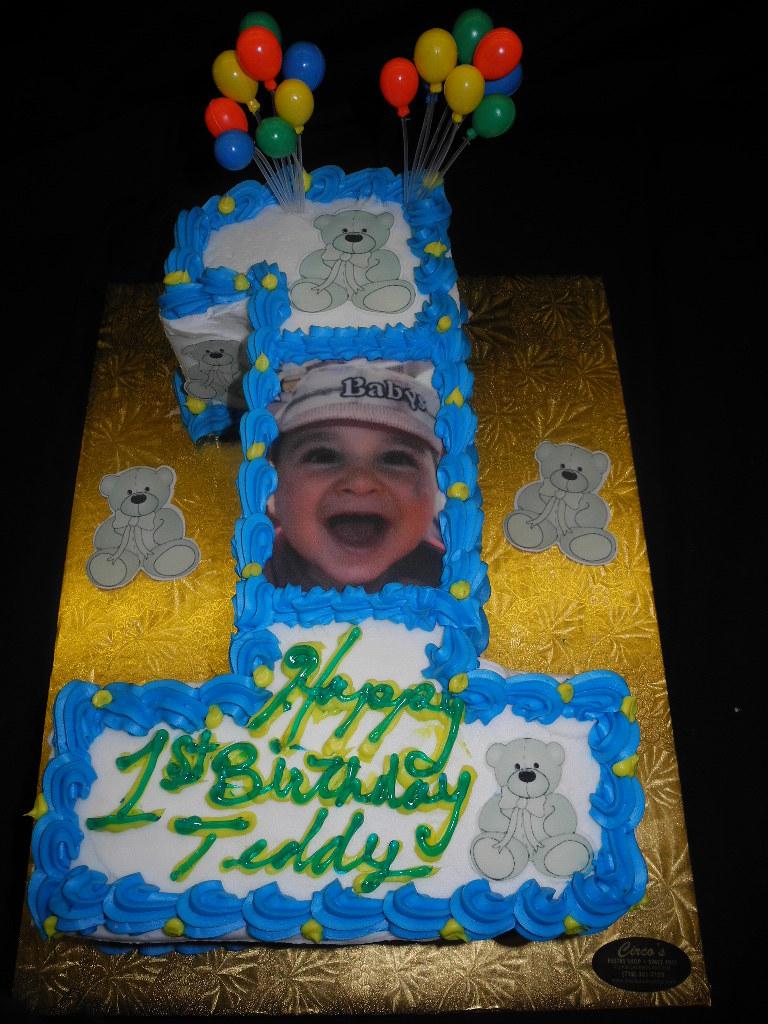 Awe Inspiring Boy 1St Birthday Cake Circos Pastry Shop Est 1945 Flickr Birthday Cards Printable Opercafe Filternl