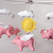 flying pigs with sun by eleni creative