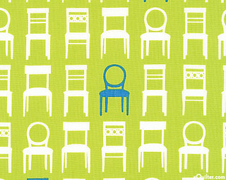 Tufted Tweets - Straight Back Chairs - Pear Green