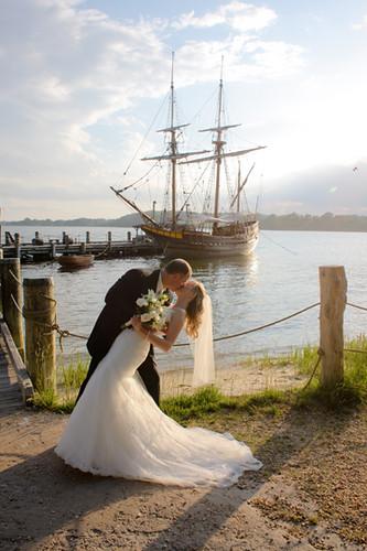 Wedding Photos, The Maryland Dove, Historic St. Mary's City