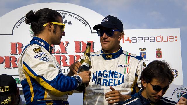 LUCA PEDERSOLI e  MATTEO ROMANO vincitori del 26° Rally Proserpina 2011 su CITROEN C4 WRC
