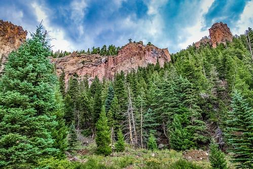 sky cloud mountain tree weather forest landscape outside us colorado unitedstates antonito