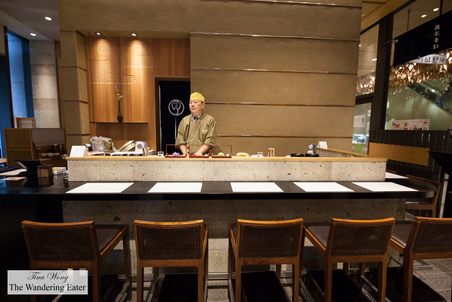 Counter seating for fresh made namagashi (生菓子)