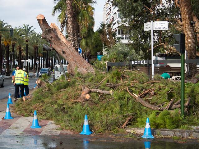 Dia después de la tormenta severa del 1 de octubre de 2015 en Salou, Tarragona