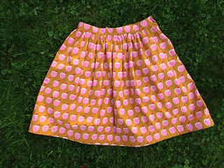 Pink Apples Dirndl Skirt   by patternandbranch
