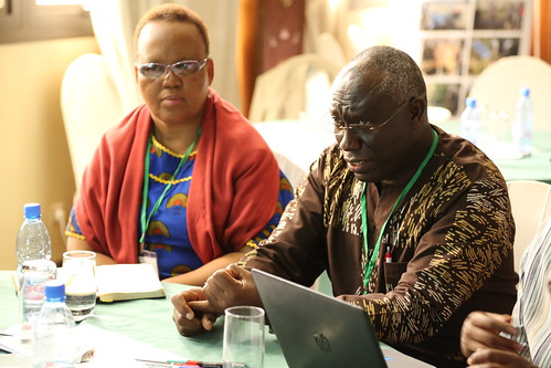 Siboniso Moyo (ILRI, left) and Mateete Bekunda (IITA, right) (Photo credit: IITA/Jonathan Odhong') | by africarising