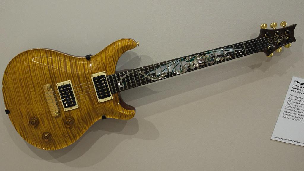 Prs  U0026quot Dragon Ii U0026quot  Electric Guitar  1993  Pearl Works  Inlay