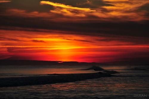 2017 atlanticocean beach clouds d300 dusk fireisland horizon imran imrananwar january longisland newyork nikon shore smithpoint sooc sunset water waves winter