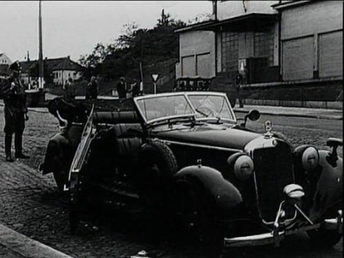 Estado del coche de Heydrich tras el atentado