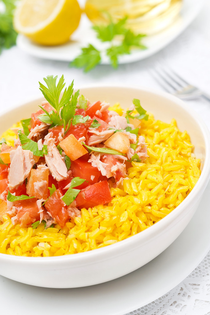 Saffron Rice With Tuna Salad Yulia Flickr