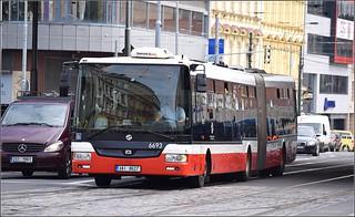 SOR NB18 CITY Articulated bus (6693) - Prague, Czech Republic