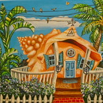 Conch House Painting by Abigail White