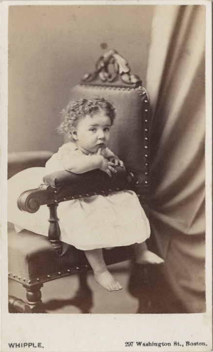 A Darling Barefoot Baby Girl By Whipple Of Boston Carte
