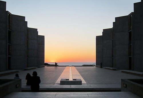 Salk Institute fountain and sunset | by mental.masala